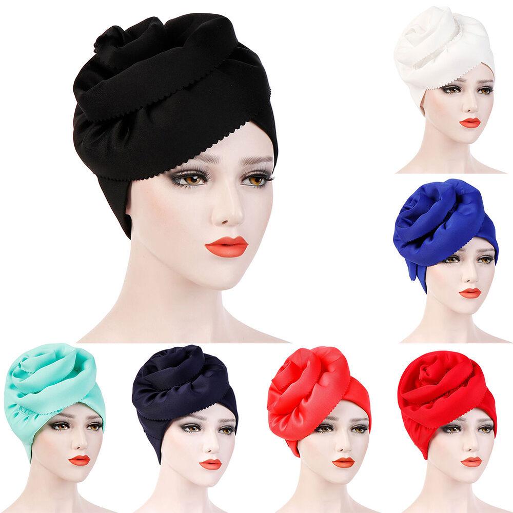 jq muslim women s side floral turban