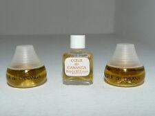 Lot 3 miniatures parfum perfume Coeur de cananga, Davana de Franka M. Berger