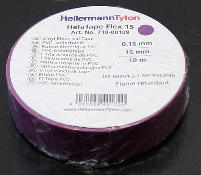 10m x 15mm PVC Isolierband HelaTape Flex 15 schwarz