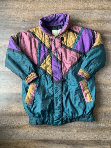 Vintage 70's 80's Pearlescent Patchwork Quilted Pu
