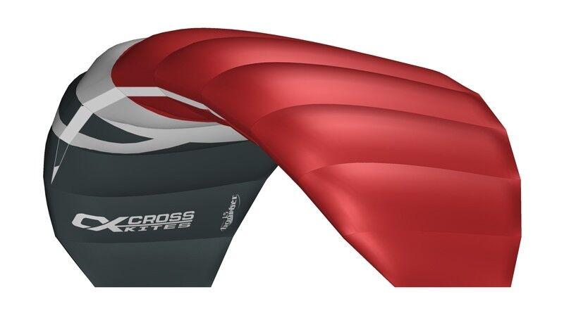 CrossKites Lenkmatte Boarder Red 1.5 R2F Tainerkite Lenkdrachen mit Bar