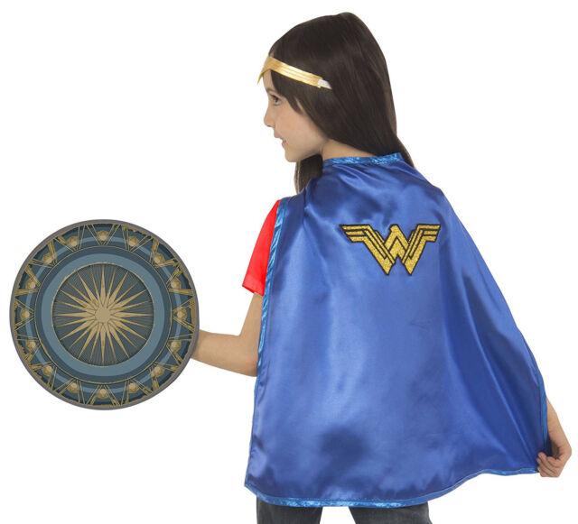 Wonder Woman Girls Superhero Halloween Cape Shield Accessories