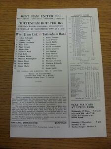 25111989 West Ham United Reserves v Tottenham Hotspur Reserves  Single Sheet - Birmingham, United Kingdom - Returns accepted within 30 days after the item is delivered, if goods not as described. Buyer assumes responibilty for return proof of postage and costs. Most purchases from business sellers are protected by the Consumer Contr - Birmingham, United Kingdom