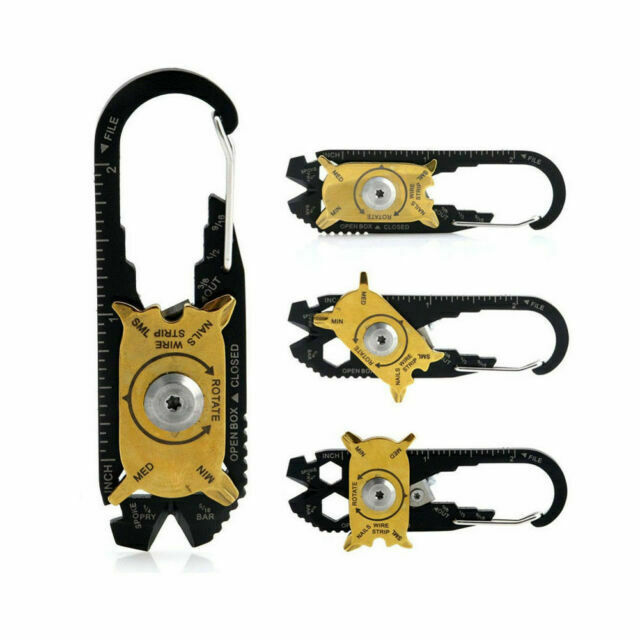 1pc 20 in 1 EDC Gear Multi Tool Wrench Opener Tools Screwdriver Keychain JM/_fr