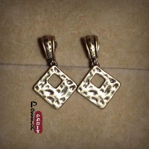 Boucles d/'Oreilles Clips et Percees Cuivre Retro Pendante Mariage Cadeau J5