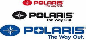 WHITE Vinyl Vehicle ATV Graphics Decal Sticker Pk 4 Pack Polaris Logo RZR