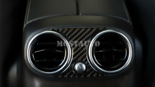 For Benz E Class W213 Carbon Fiber Console Rear Air Vent Outlet Cover 2016-2019