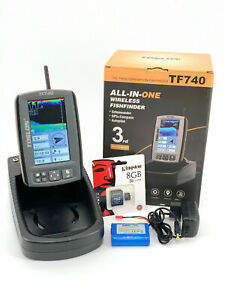 Toslon-TF740-GPS-Autopilot-Fishfinder-With-Battery-And-Charger-NEW