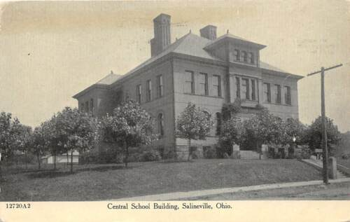 E43 Salineville Columbiana County Ohio Postcard c1910 Central School Building