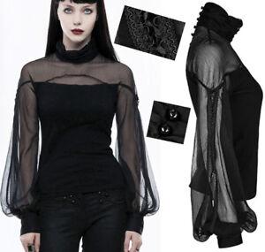 Top-haut-gothique-lolita-baroque-manche-bouffante-voilage-lace-fashion-PunkRave