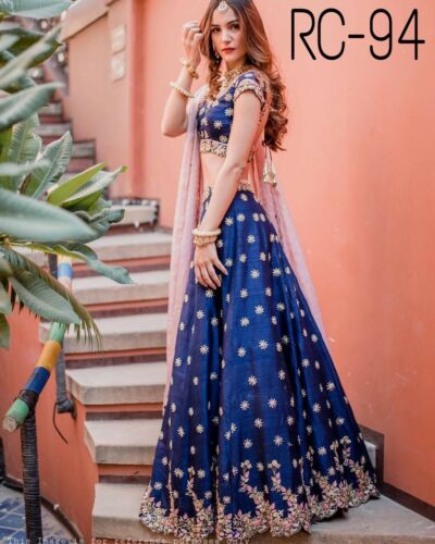 Indian Desginer Fancy Lehenga Choli With Embroidery Work Bollywood Lehenga choli