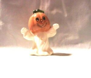 03oSeason  J*142-42.524   Ceramic Jack-o-Lantern Ghost #2 Pie Bird
