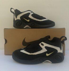 on sale ba855 c7e50 Image is loading Vintage-Nike-Boys-GS-Air-lambaste-BG-Black-