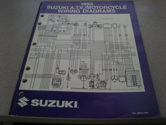 Suzuki Atv  U0026 Motorcycle Wiring Diagrams Manual 1993 99923