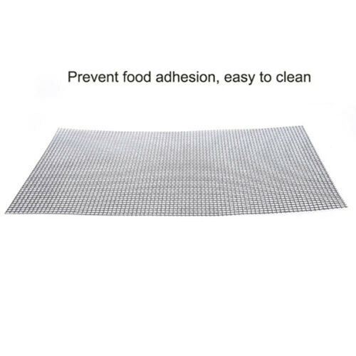 3PC BBQ Grill Mesh Non-Stick Mat Reusable Sheet Resistant Barbecue Meat