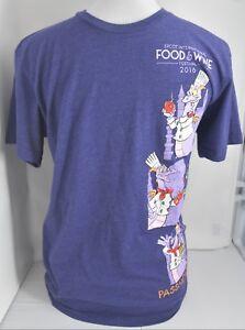 Disney-Purple-Shirt-Top-Food-amp-Wine-Festival-2016-Figment-Men-Size-Small-S
