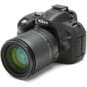 easyCover-Nikon-D5200-Silicone-Camera-Case-Black-EA-ECND5200B-FREE-US-SHIPPING