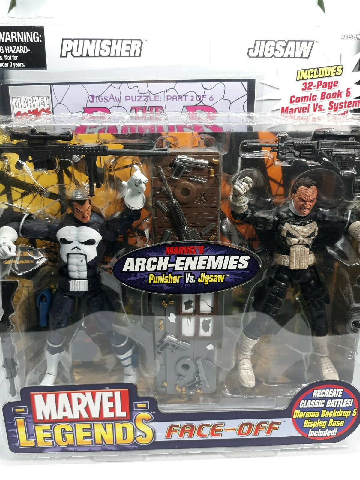Toy Biz Marvel Legends Arch-Enemies Series THE PUNISHER VS JIGSAW Diorama A22