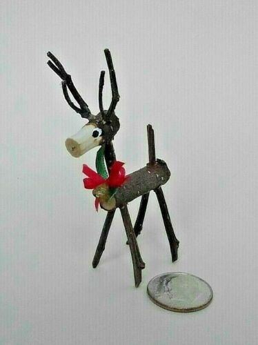 Dollhouse Miniature Twig Reindeer Handcrafted  All Through the House 1:12 scale