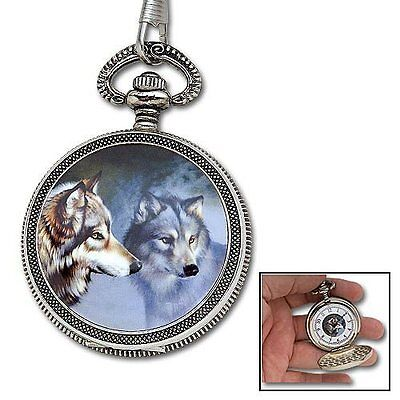 NEW Pocket Watch - Wild Wolf & Gift Box - NEW Watches