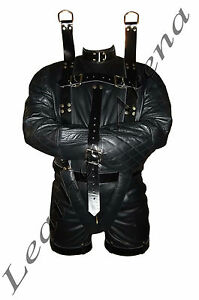 Leather Heavy Duty Suspension Bondage Suit Strait Straight Jacket ...