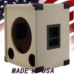 1x15 empty bass guitar speaker cabinet white tolex bg115s wtlx ebay. Black Bedroom Furniture Sets. Home Design Ideas