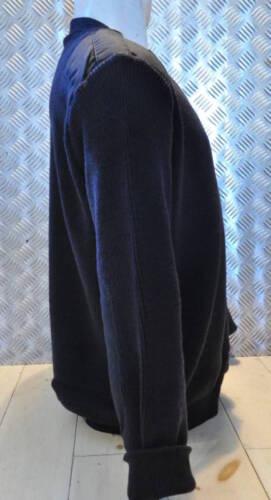 Tricot Taille Col Modèle v Véritable Police 91 100 4cm noir Laine Britannique zFqEwCxf