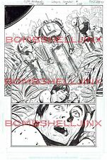 DC THE SHIELD #4 Page 9  Original Art By Cliff Richards