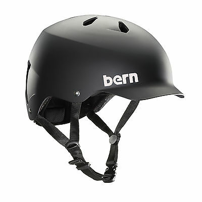 Bern Men's Watts EPS Bike Helmet Matte Black VM5EMBK