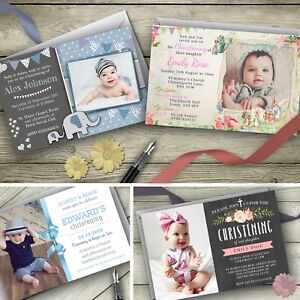Personalised-Christening-Invitations-Baptism-Party-Invites-envelopes-included