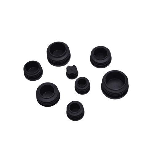 10x Verschlusskappen aus schwarzem Kunststoff Verschlussstopfen für RundrohTPI