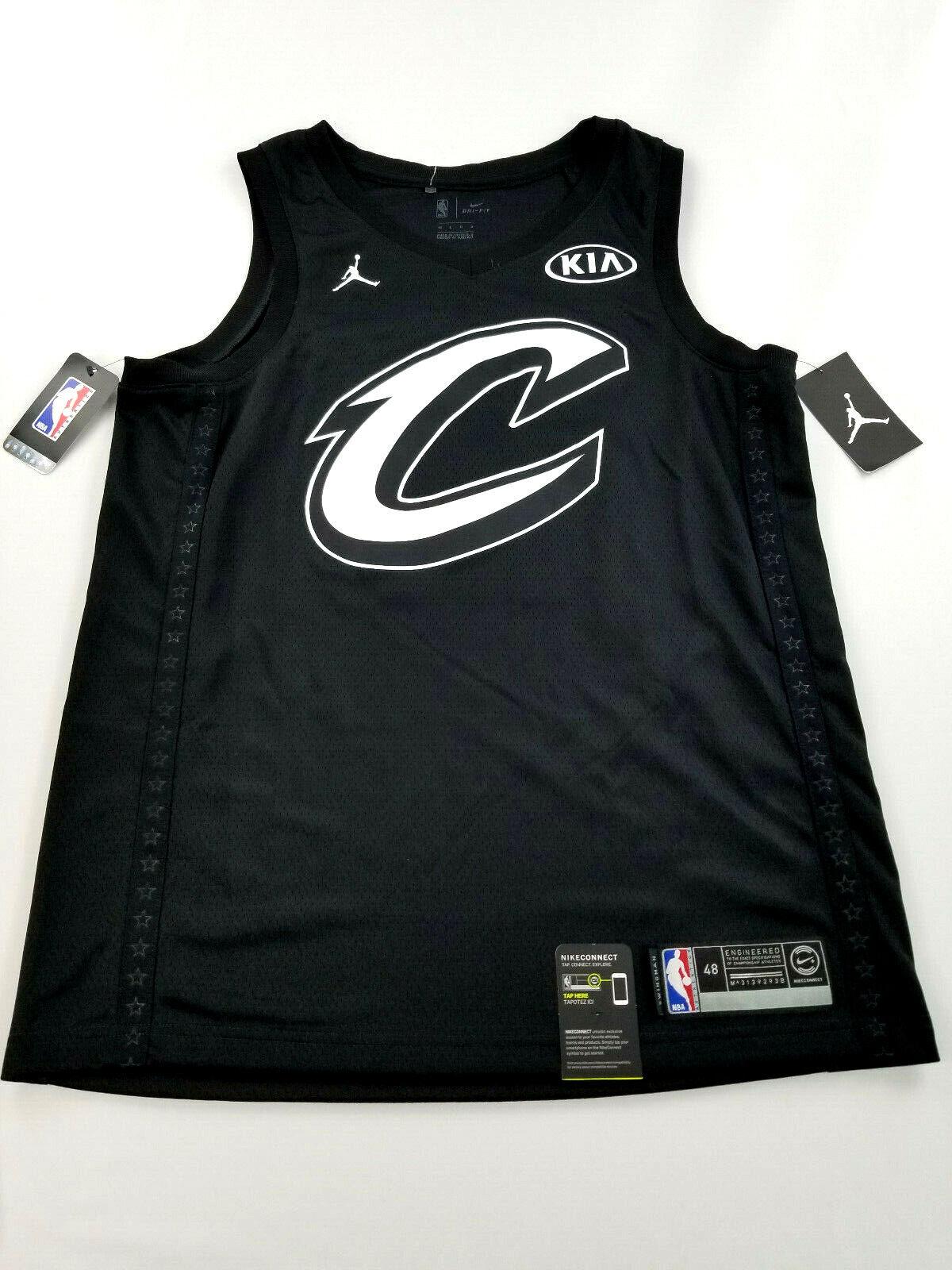 Nueva camisa para hombres JORDAN All-Star James 23 Jersey NBA Baloncesto Negro 48 L MSRP  120