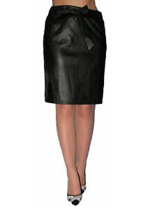 ganz nett riesige Auswahl an wähle authentisch Details zu Damen Rock Lederoptik Midi Knielang Stretch Figurbetont  Lederrock 40-44