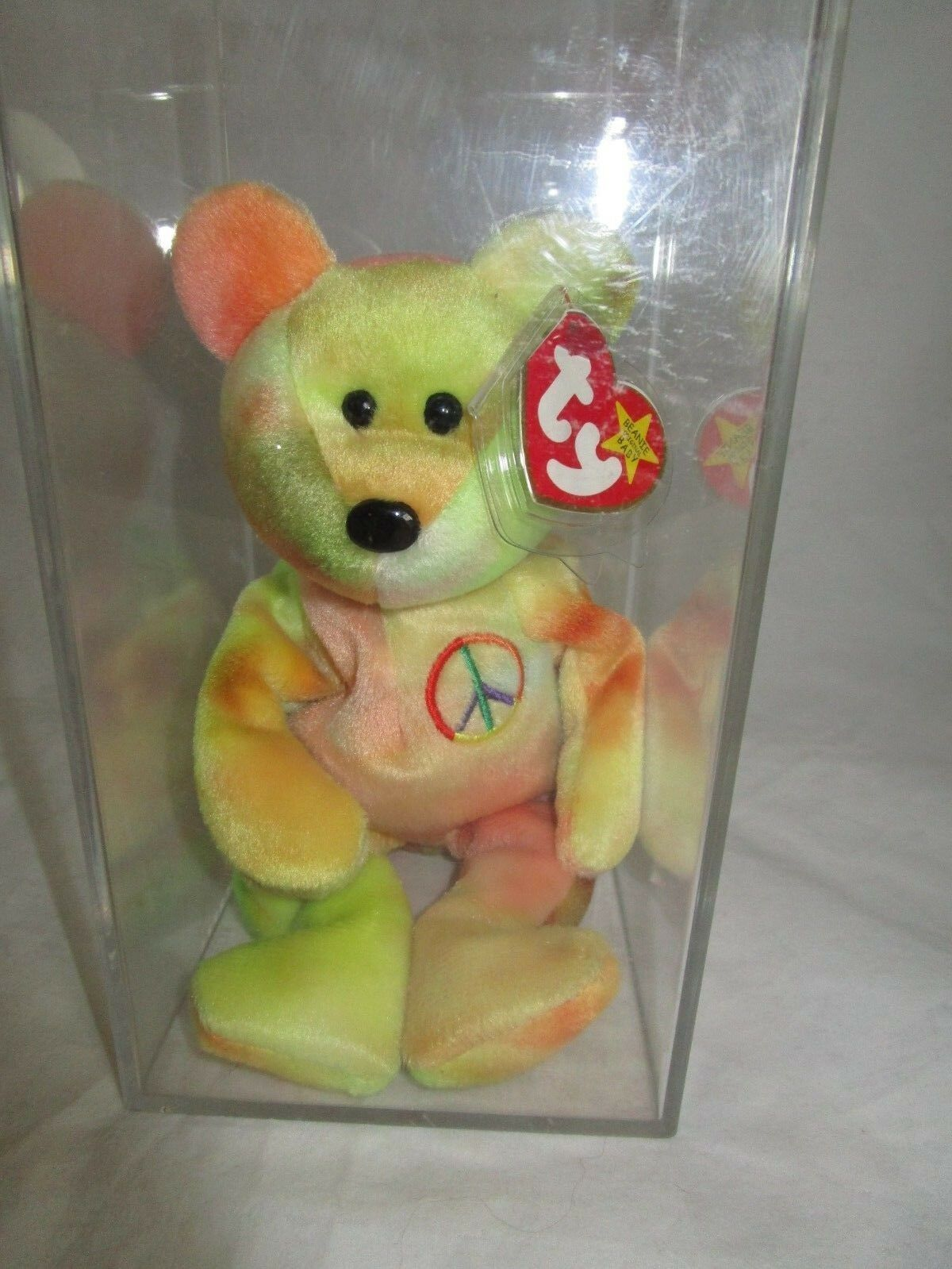 Peace the bear Ty 1996 Retired RARE, MINT