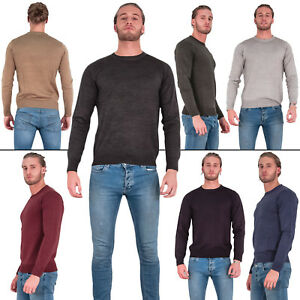 Brave-Soul-Mens-Sweatshirt-Crew-Neck-Jumper-Knitted-Pullover-Warm-Winter-Sweater