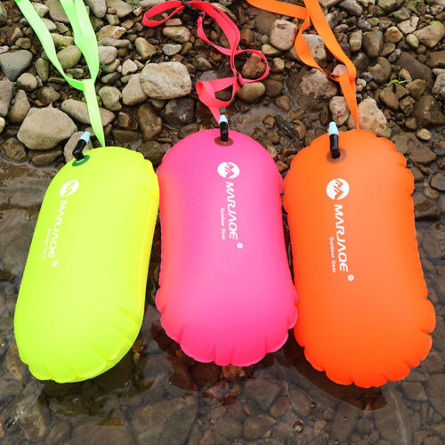 1x PVC Schwimmboje Sicherheit Air Dry Tow Bag Float Aufblasbare Signal DriftZBQY