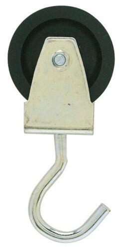 Poulie monture à crochet Caujolle Charge utile 100kg Boulonnée Diam.80mm