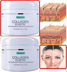 COLLAGEN-amp-ELASTIN-SKIN-CREAM-Firming-Face-Care-Anti-Aging-Wrinkle-Beauty-8-oz
