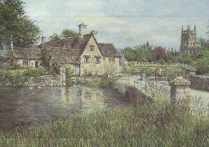 England Cotswold Village Bibury on the River Coin United Kingdom Art Postcard