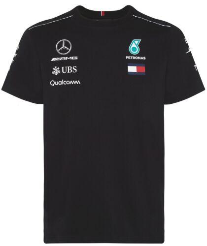Mercedes-AMG Petronas Tommy Motorsport 2018 F1 TEAM Driver T-shirt pour femme Noir Bnwt