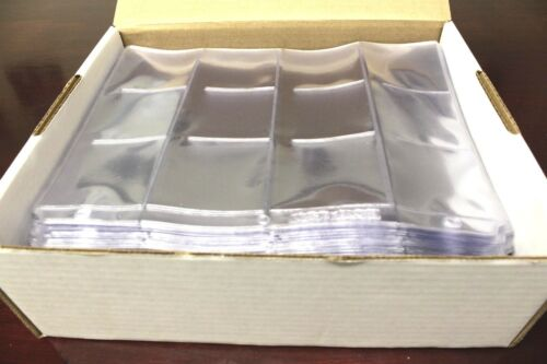 100 BCW 12 Pocket Pages 2.5 X 2.5 for Crown Coin Holder Flips Snap Silver Eagle