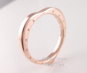 18b9dc568dc ARCS OF LOVE Authentic PANDORA SIGNATURE Rose GOLD Plated LOGO Heart ...