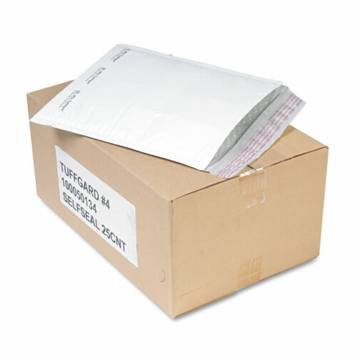 Details about  /Sealed Air Jiffy TuffGard Self-Seal Cushioned Mailer #4 9 1//2 x 14 1//2 White 25
