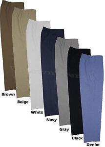 Donna Pantaloni Tasche con Elastico dietro Misura 8-30, Taglie Comode 68.6cml