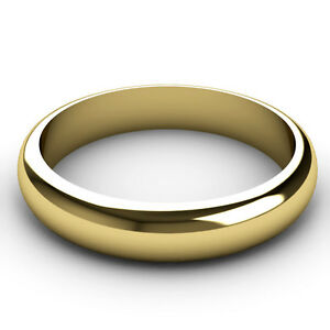 Anillo-de-boda-de-9-quilates-de-oro-Amarillo-4-Mm-Banda-elegir-la-luz-estandar-mediano-o-pesado