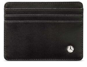 genuine mercedes benz black business credit card wallet. Black Bedroom Furniture Sets. Home Design Ideas