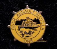 RIVER ASSAULT FORCE ONE HAT PIN UP US NAVY VET ASPB Assault Support Patrol Boat