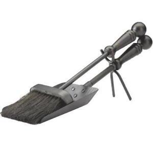 Inglenook Black Shovel and Brush Set 2 Piece Fire Companion Set FIRE99