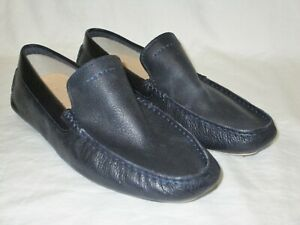 e3aa47def08 Details about NEW NWOB MENS SIZE 8.5 NAVY BLUE UGG HENRICK LEATHER DRIVING  LOAFERS SHOES