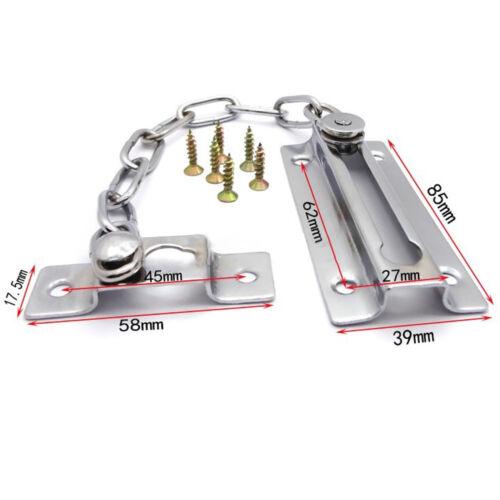 PREMIUM CHROME DOOR CHAIN /& SCREW HIGH SECURITY Safety Guard Restrictor Lock NE8